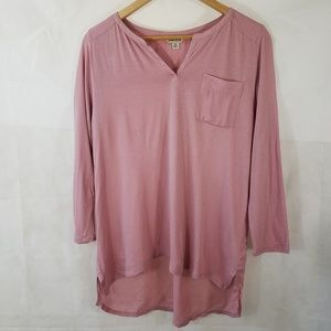 Lucky Brand Vneck Highlow Basic Shirt